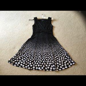 Black & White Polka Dot Sleeveless Dress